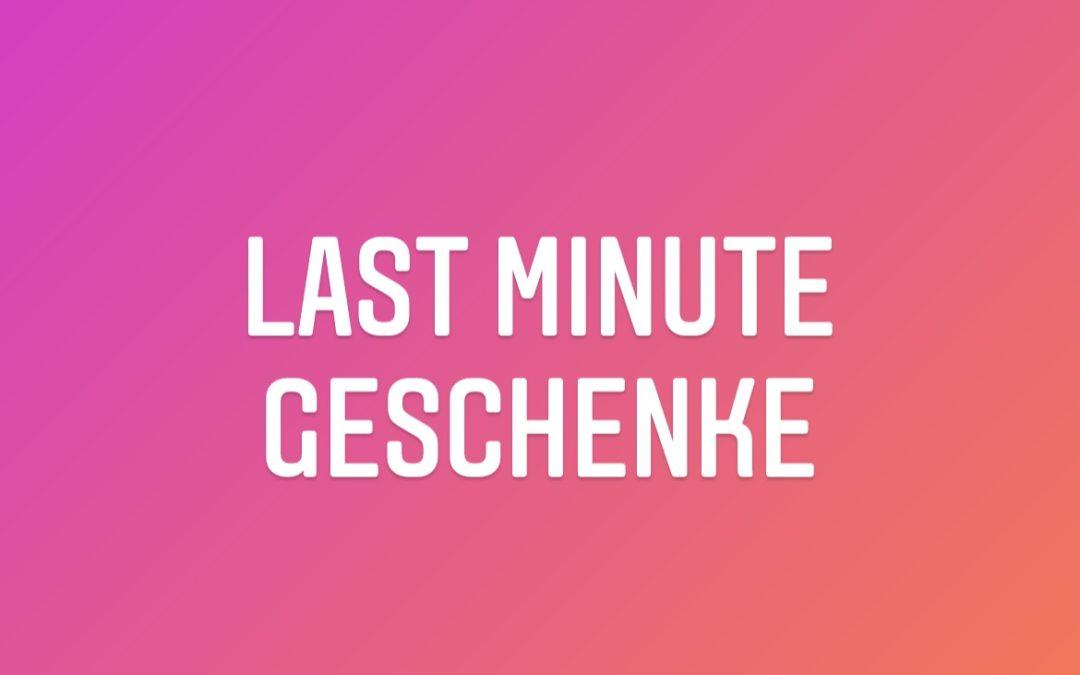 Last Minute Geschenke mit kostenfreier Lieferung (innerhalb 15 km) bis Heiligabend 14 Uhr bestellen