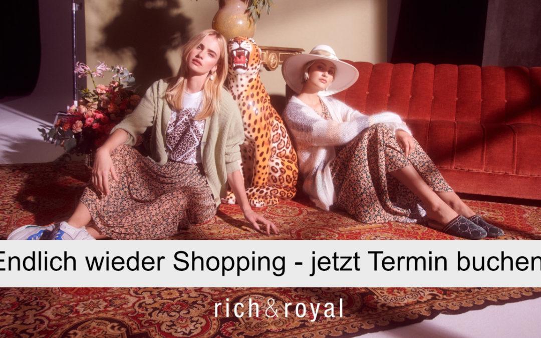 Termin-Shopping bei LANGER & DOWNTOWN ab Montag, 8. März – jetzt Termin buchen